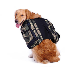 Outdoor Medium Large Waterproof Dog Bag Camouflage Carrier Backpack Storage Snack Saddle Bags Portable Travel  Backpack