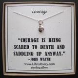 Courage Necklace - Divorce Gift - Gifts for people with anxiety - Gifts for Cancer Patients - Graduation Gifts for Her