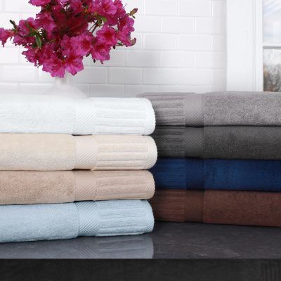 Zenith Collection Hotel Towels and Bath Mats by The Turkish Towel Company