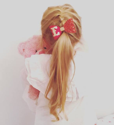 RED PERSONALISED HAIR BOW CLIP