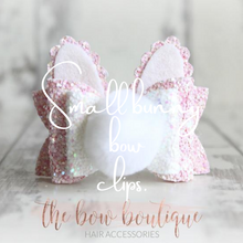Load image into Gallery viewer, SMALL BUNNY BOW HAIR CLIPS (4 COLOURS)