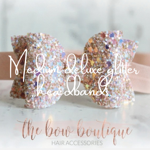 MEDIUM DELUXE GLITTER HEADBANDS (20 COLOURS)