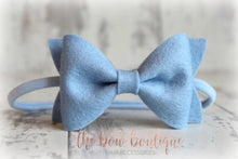 Load image into Gallery viewer, LARGE LUXURY FELT BOW NYLON HEADBANDS (19 COLOURS)