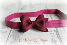 Load image into Gallery viewer, SMALL LUXURY FELT BOW HEADBANDS (20 COLOURS)