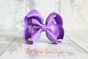 RIBBON BOW CLIPS (28 COLOURS)