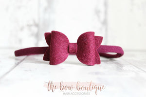 MINI DELUXE FELT NYLON HEADBAND (28 colours)