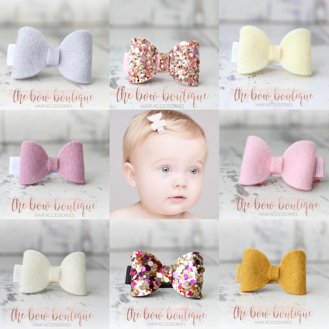 Mini bow clip - Surprise set of 10