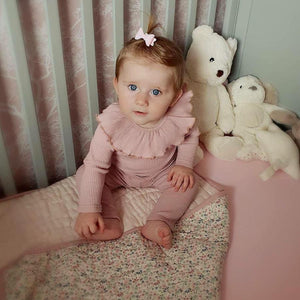 MINI BABY GLITTER BOW BOBBLES (49 COLOURS)
