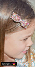 Load image into Gallery viewer, SMALL GLITTER BOW CLIPS (48 COLOURS)