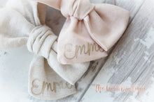 Load image into Gallery viewer, PERSONALISED LINEN SWEETHEART || CLIP OR HEADBAND