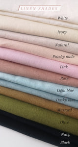 Linen sweetheart clips (16 Colours)