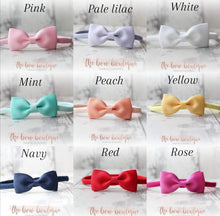 Load image into Gallery viewer, PINCH BOW NYLON HEADBANDS (20 COLOURS)