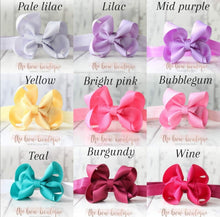 Load image into Gallery viewer, Ribbon bow headbands (20 Colours)