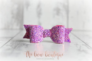 Small glitter bow clips (43 Colours)