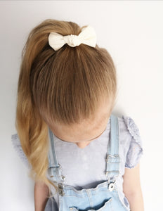 Knot bow hair bobble (31 colours)
