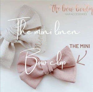 THE MINI LINEN SWEETHEART CLIP