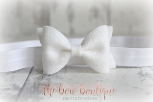 SMALL LUXURY FELT BOW HEADBANDS (20 COLOURS)