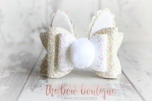BIG BUNNY BOW DELUXE CLIPS (4 COLOURS)