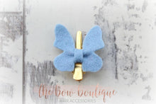 Load image into Gallery viewer, BUTTERFLY FELT CLIPS (28 COLOURS)