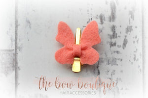 BUTTERFLY FELT CLIPS (28 COLOURS)