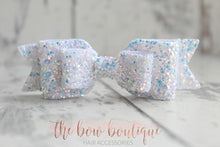 Load image into Gallery viewer, DOUBLE GLITTER BOW CLIPS (49 COLOURS)
