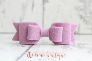 DOUBLE FELT BOW CLIPS (28 COLOURS)
