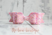 Load image into Gallery viewer, Double glitter bow clips (43 colours)