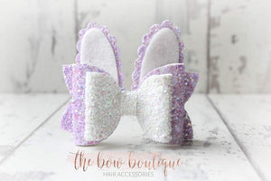 SMALL BUNNY BOW HAIR CLIPS (4 COLOURS)