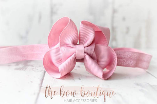 RIBBON BOW HEADBANDS (20 COLOURS)