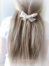 Load image into Gallery viewer, LACE HAND TIED HAIR BOW CLIP (3 COLOURS)