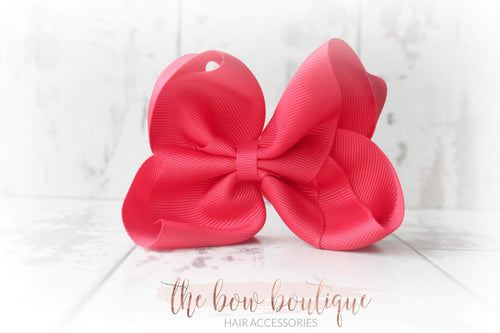 Large red ribbon bow clip