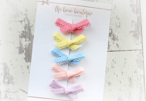 SUMMER HAND TIED DAINTY BOW SETS