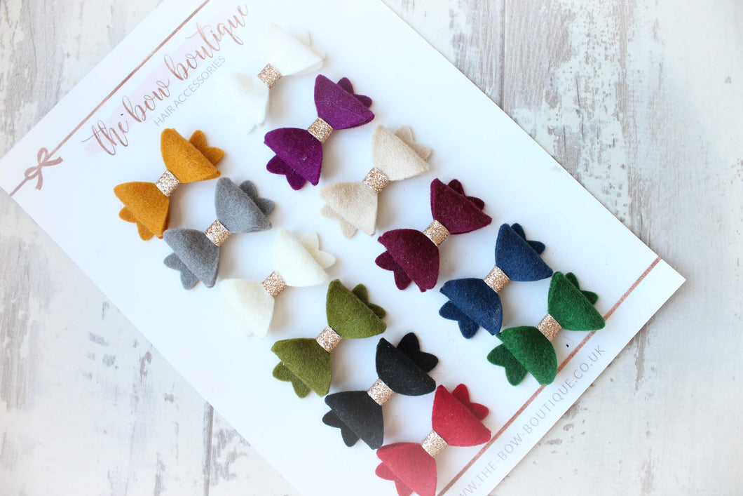 SET OF 12 AUTUMN MINI BABY CLIPS