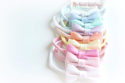 Set of 9 cotton bow headbands