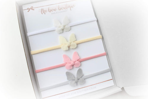 SMALL BUTTERFLY HEADBAND SET OF 4