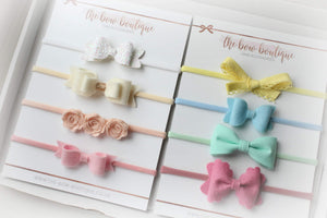 The pastels baby headband box