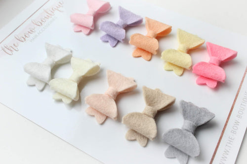 Set of 10 mini baby bows clips