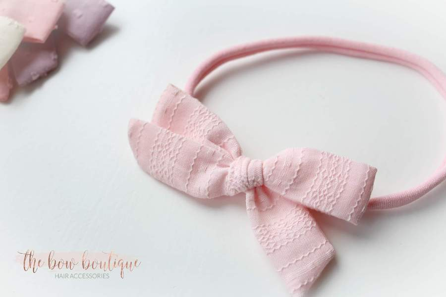 Eva - Timeless bow nylon headbands