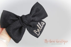 MINI PERSONALISED LINEN SWEETHEART CLIP
