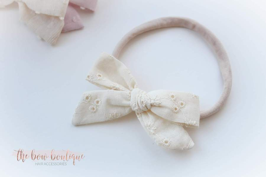 Aria - Timeless bow nylon headbands