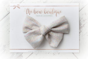 RAINBOW LINEN LIMITED BOW CLIP