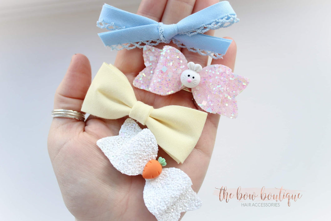EASTER BOW SET | CLIPS OR HEADBANDS - LIMITED EDITION.