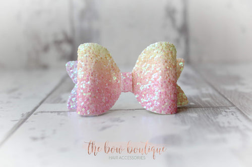 Medium glitter bow clips (43 Colours)