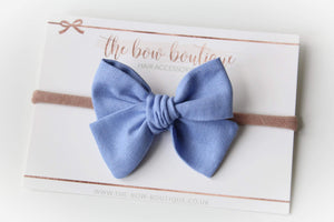 Mini personalised linen sweetheart nylon headbands (14 colours)