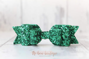 Double glitter bow clips (43 colours)