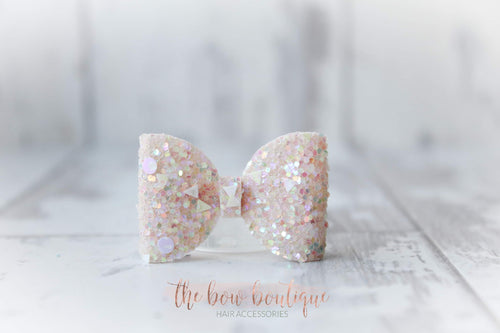 Mini glitter bow clips (43 Colours)