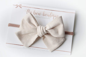 Linen sweetheart nylon headbands (24 Colours)