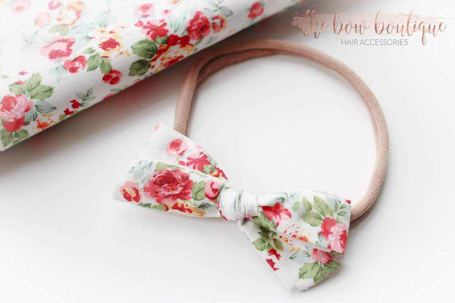 Summer Rose - Timeless bow nylon headbands
