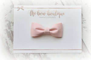 COTTON PINCH BOW CLIPS (20 COLOURS)