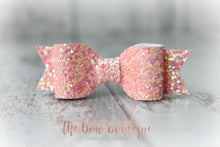 Load image into Gallery viewer, Small glitter bow clips (43 Colours)